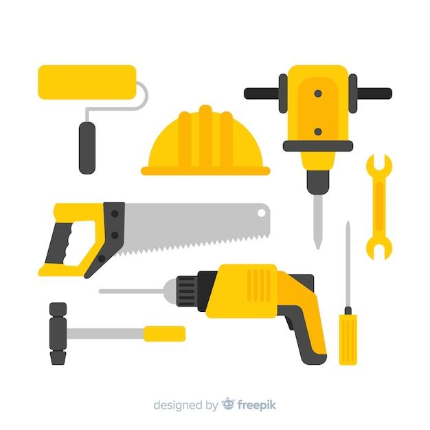 Коллекция строительной техники Бесплатные векторы