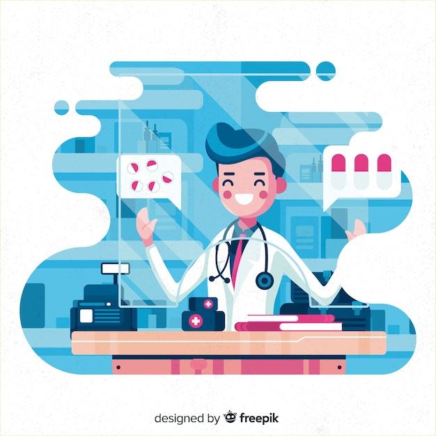 Фармацевт Бесплатные векторы