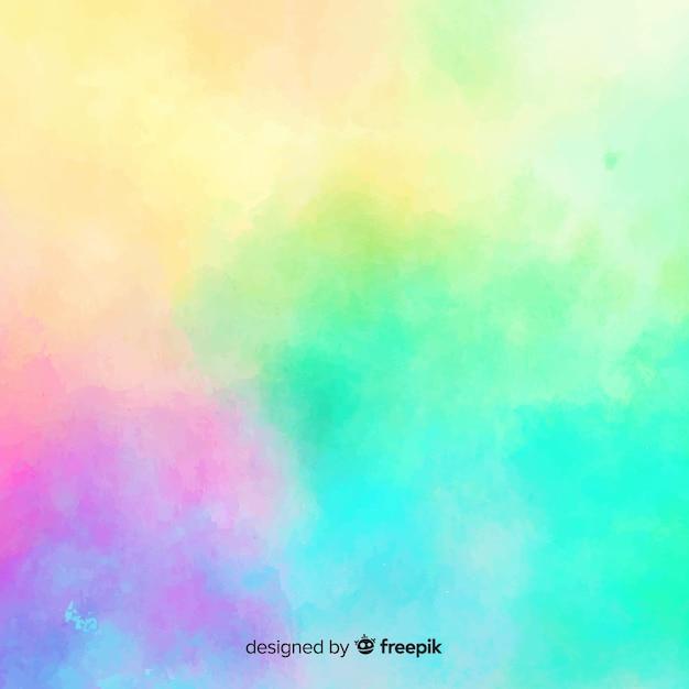 グラデーションの水彩画の汚れの背景 無料ベクター