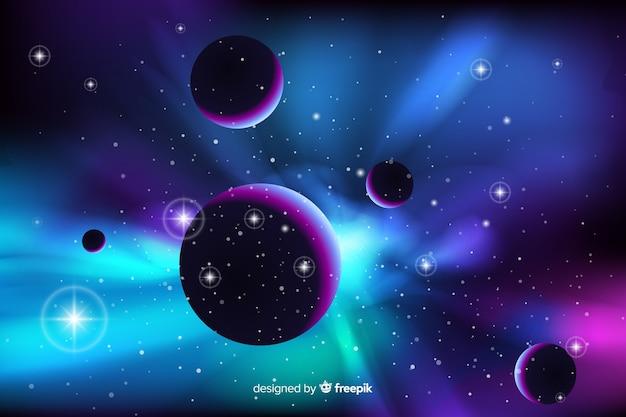 抽象的なネオン銀河の背景 無料ベクター