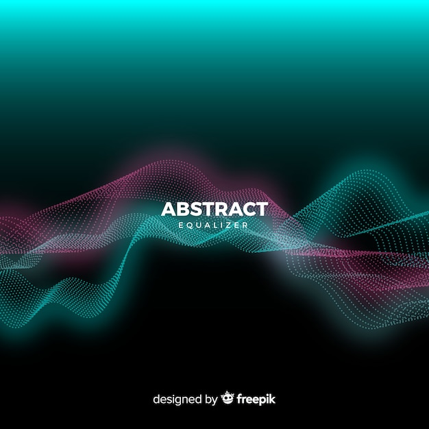 抽象的なイコライザー粒子波背景 無料ベクター