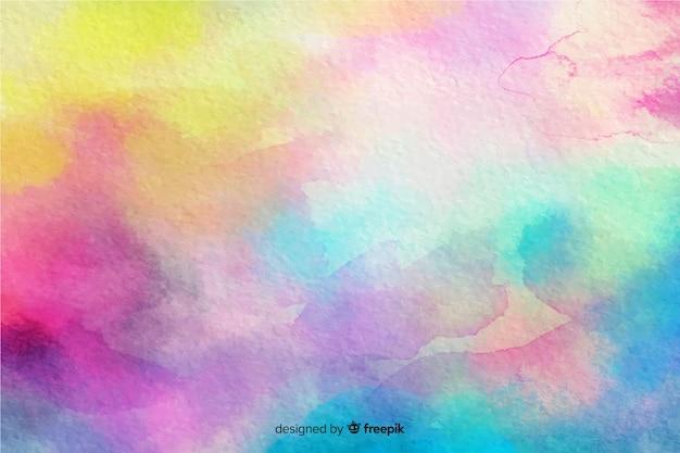 カラフルな水彩効果の背景 無料ベクター