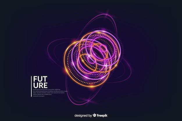 Абстрактный футуристический светящийся голограмма фон Бесплатные векторы