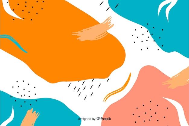 手描きの抽象的な形の背景 無料ベクター
