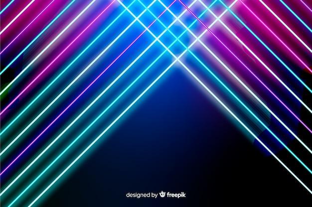Абстрактный фон неоновые линии Бесплатные векторы