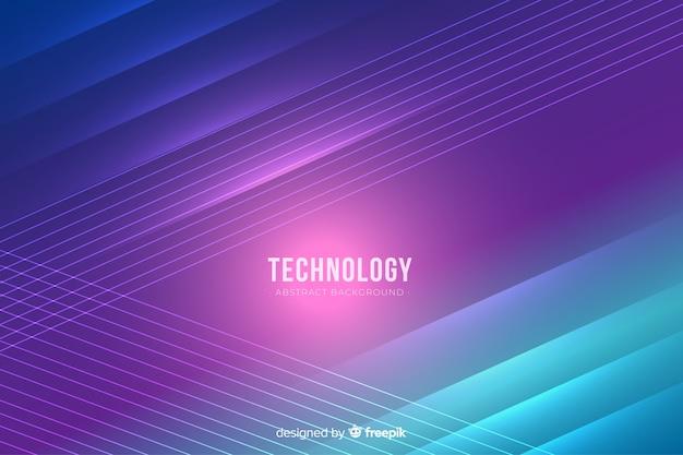 リアルなネオンライト技術の背景 無料ベクター