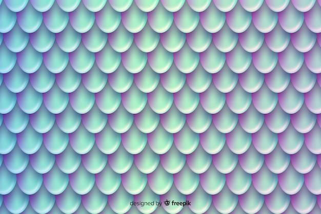 ホログラフィックダブルトーンマーメイドテールの背景 無料ベクター