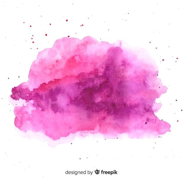 抽象的な形の水彩画の汚れ 無料ベクター