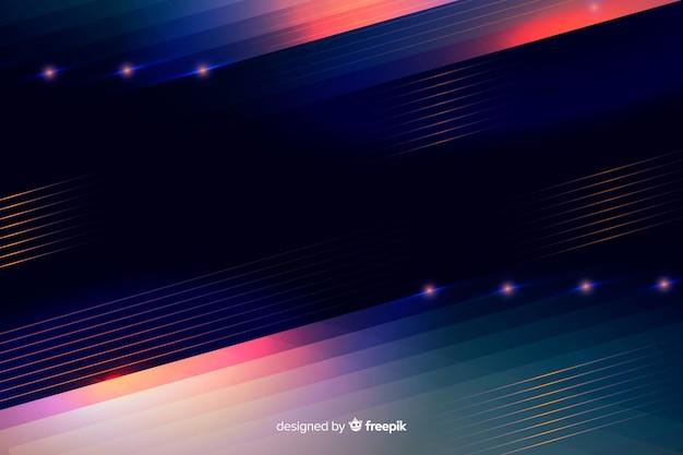 抽象的なネオン光線背景 無料ベクター