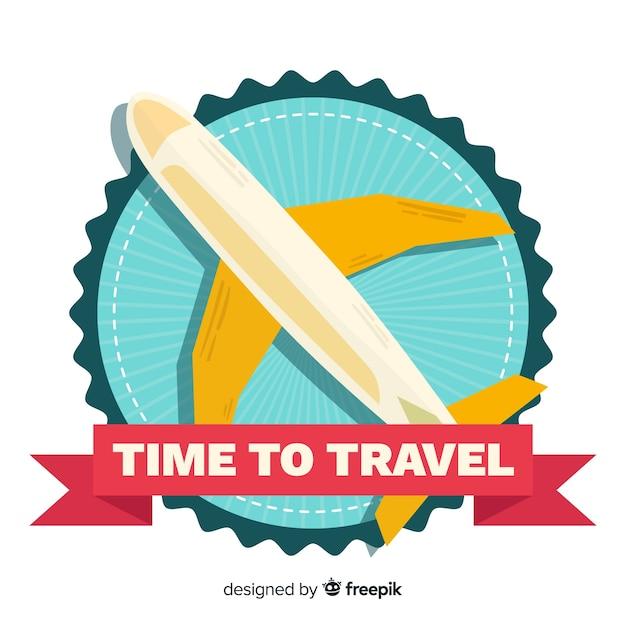 Винтажная туристическая этикетка плоский дизайн Бесплатные векторы