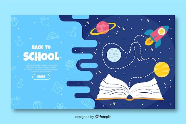 学校の着陸ページに戻る 無料ベクター