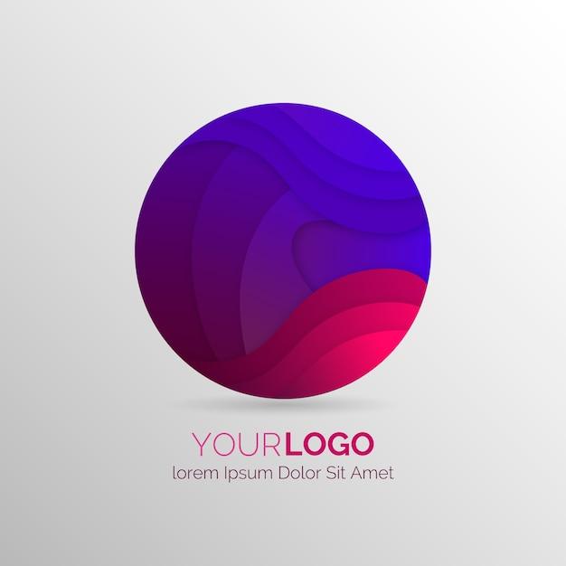 グラデーションの抽象的なロゴフラットデザイン 無料ベクター