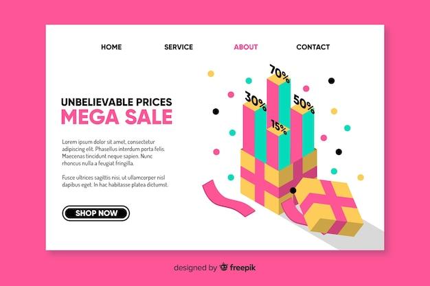 ファッション販売ランディングページテンプレート 無料ベクター