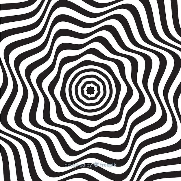 目の錯覚波状フラット背景 無料ベクター