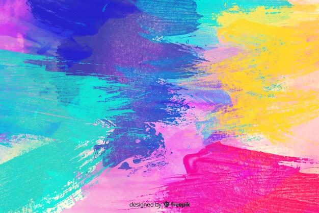 抽象的なカラフルな水彩画の汚れの背景 無料ベクター