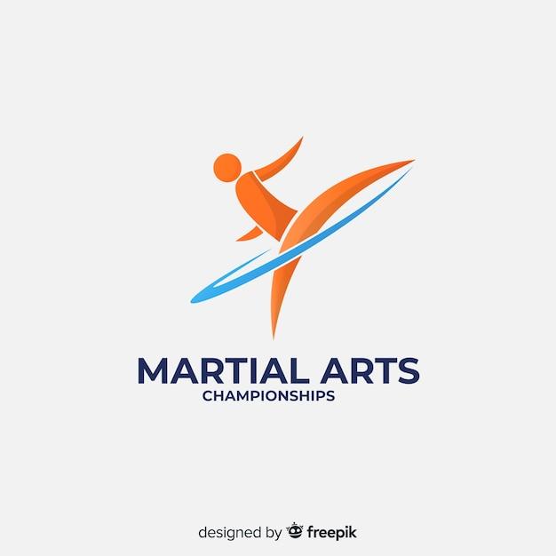 抽象的な形をしたスポーツのロゴのテンプレート 無料ベクター