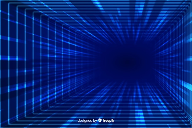 技術的な光トンネル背景フラットデザイン 無料ベクター