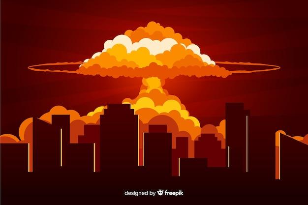 核爆発効果フラットデザイン 無料ベクター