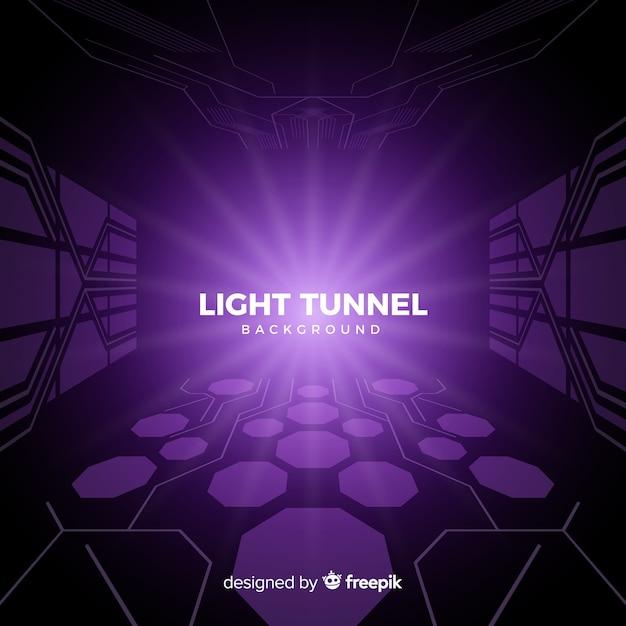 抽象的な技術的な光のトンネルの背景 無料ベクター
