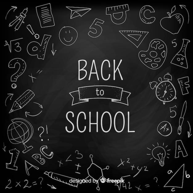 Доска обратно в школу фоне Бесплатные векторы