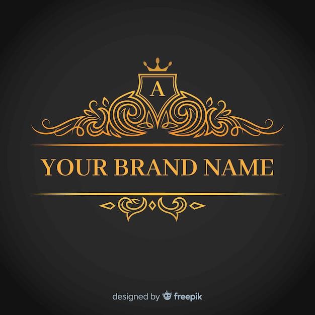 黄金の優雅なコーポレートのロゴのテンプレート 無料ベクター
