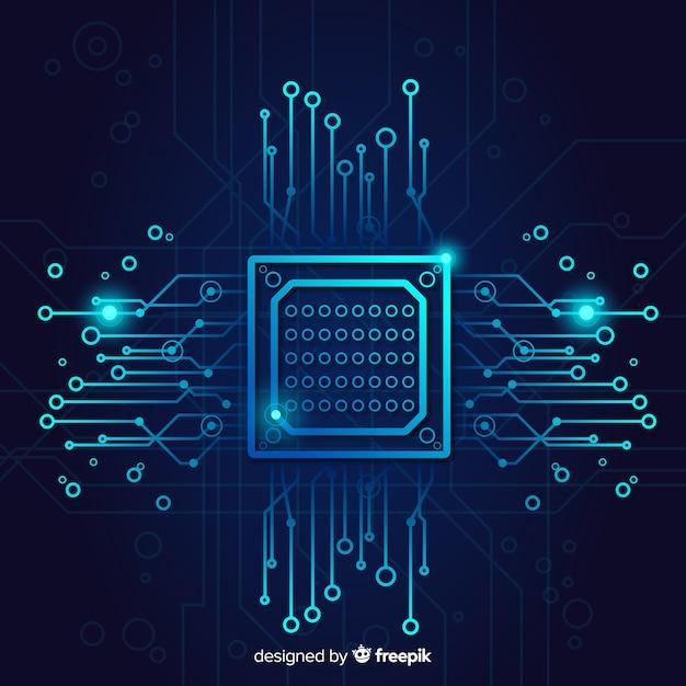 回路基板との技術の背景 無料ベクター