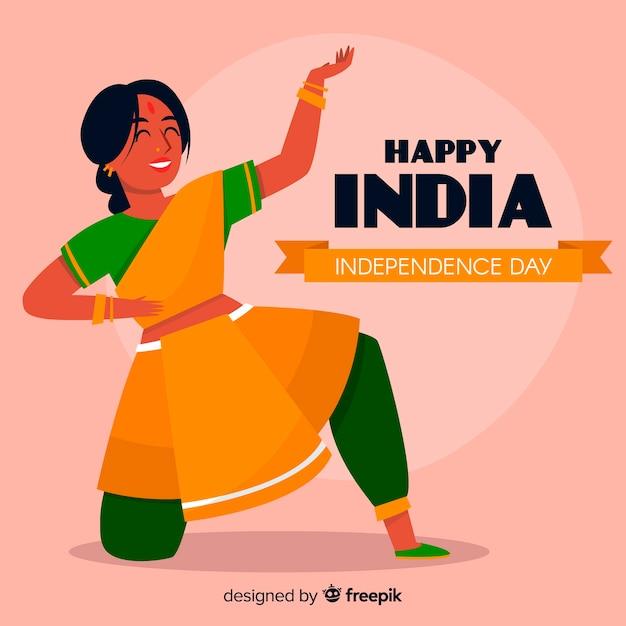 Счастливый день независимости индии фон Бесплатные векторы