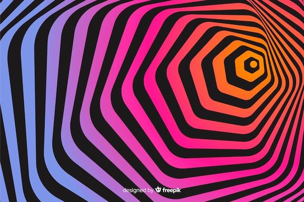 目の錯覚効果の背景 無料ベクター