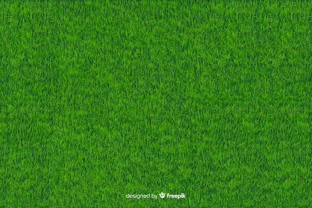緑の芝生の背景のリアルなスタイル 無料ベクター