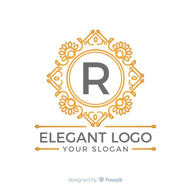 黄金のエレガントなロゴのテンプレート 無料ベクター