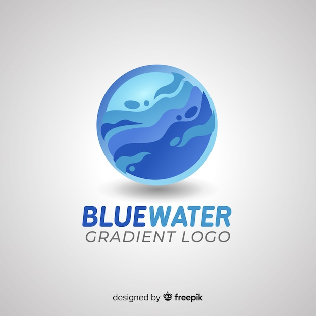 Градиент логотип с абстрактной формой Бесплатные векторы