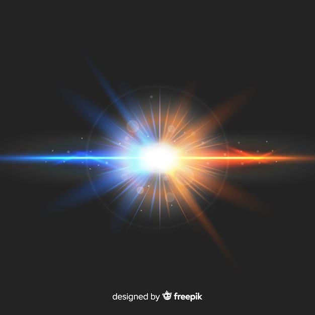 光の力がリアルなスタイルを演出 無料ベクター
