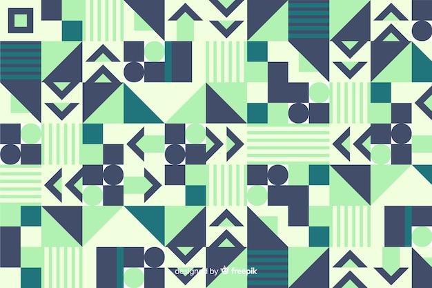 カラフルな幾何学的図形のモザイクの背景 無料ベクター