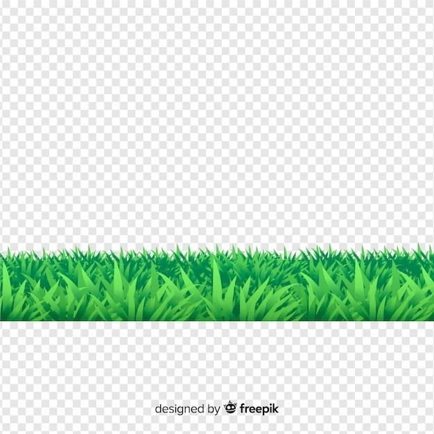 草のリアルなスタイルの境界線 無料ベクター