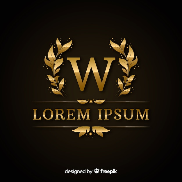 Золотой элегантный шаблон роскошного логотипа Бесплатные векторы