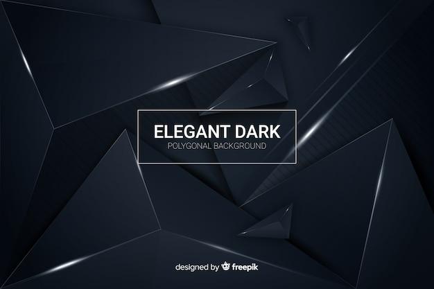 Элегантный темный многоугольный декоративный фон Бесплатные векторы