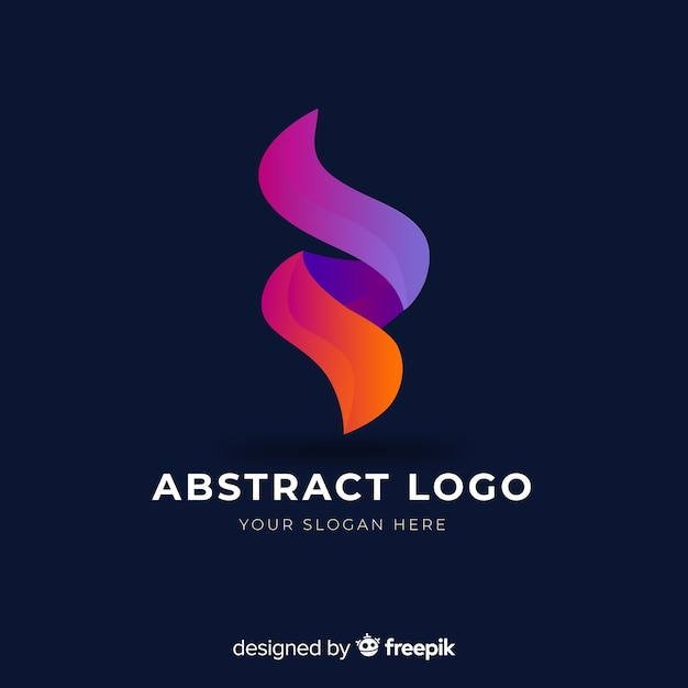 グラデーション抽象的な会社のロゴのテンプレート 無料ベクター