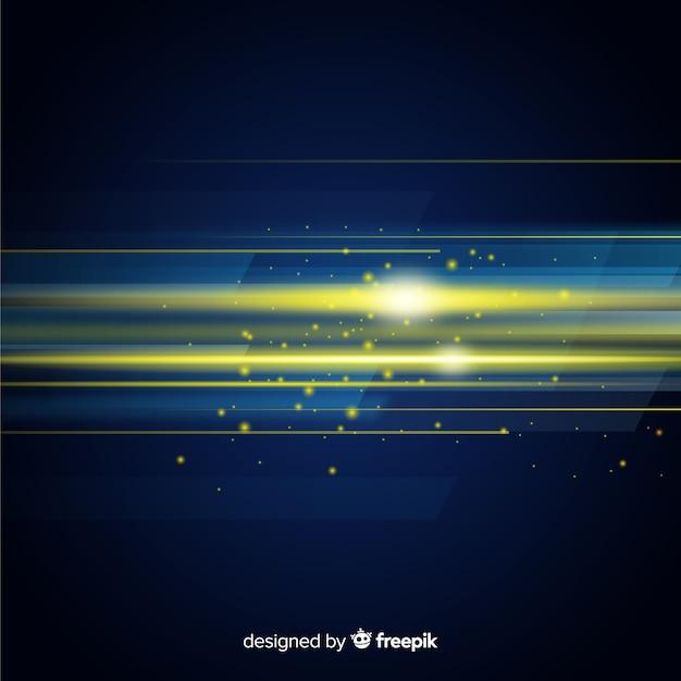 水平方向の光の動きと抽象的な背景 無料ベクター