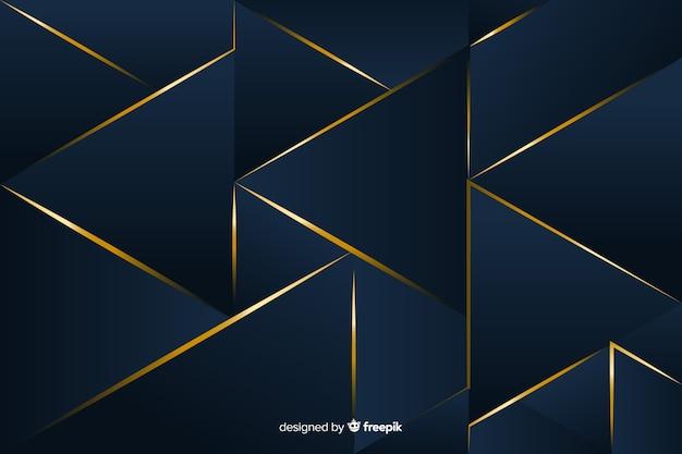 エレガントな暗い多角形の背景デザイン 無料ベクター