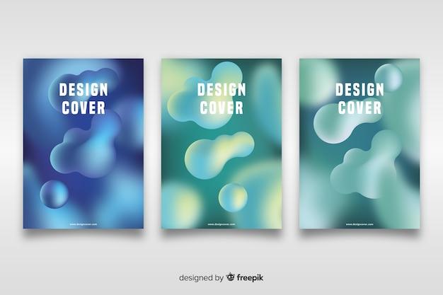 Шаблон обложки с абстрактным дизайном Бесплатные векторы