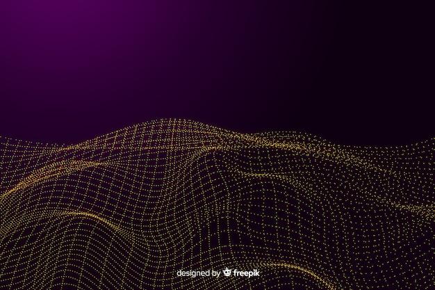 Абстрактный фон цифровой сетки волн Бесплатные векторы