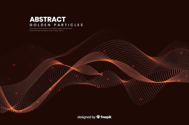 Фон волны абстрактных цифровых частиц Бесплатные векторы