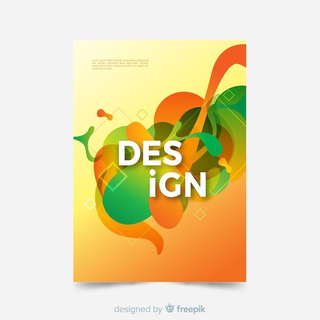 抽象的なデザインの表紙のテンプレート 無料ベクター