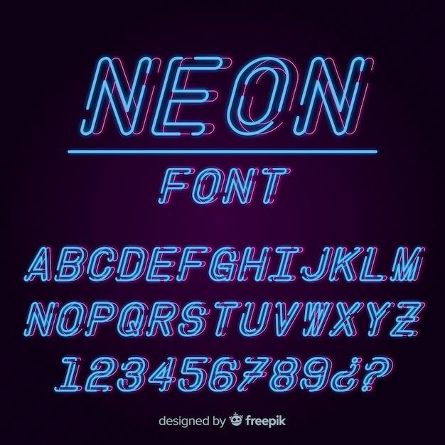 Шрифт с алфавитом в неоновом стиле Бесплатные векторы