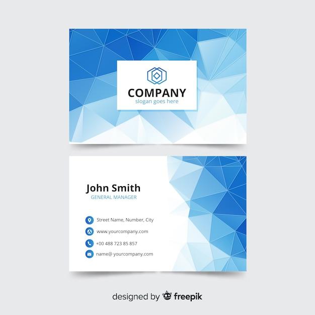 Корпоративный шаблон визитной карточки, дизайн спереди и сзади Бесплатные векторы