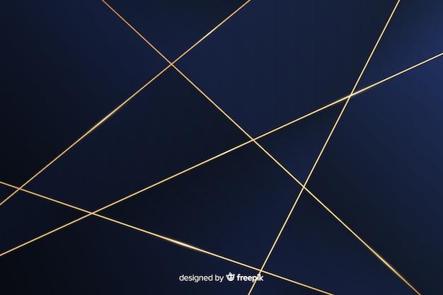 暗い多角形の背景エレガントなスタイル 無料ベクター