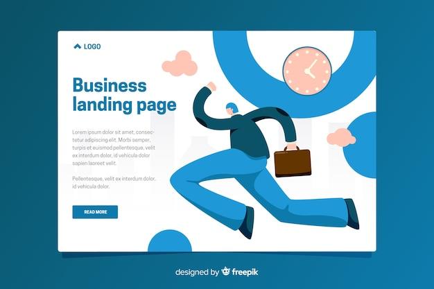ビジネスのランディングページテンプレート 無料ベクター