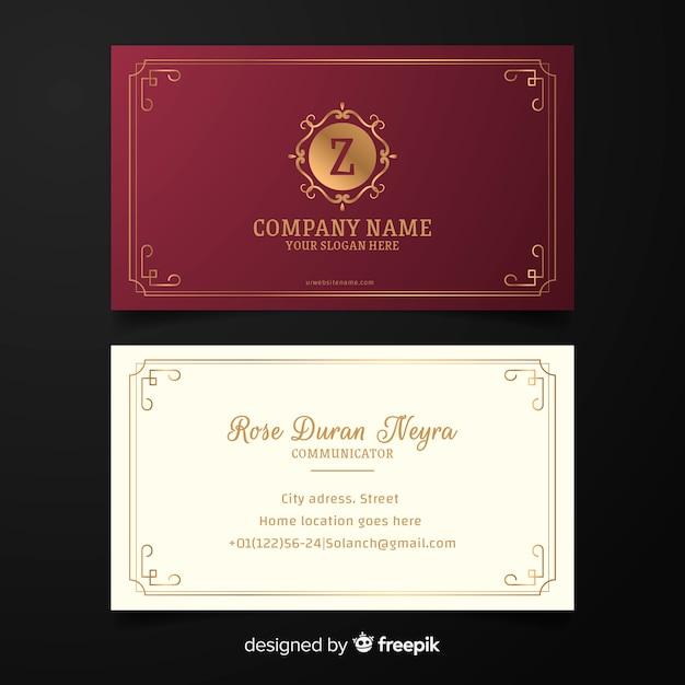 Шаблон визитной карточки в элегантном стиле Бесплатные векторы