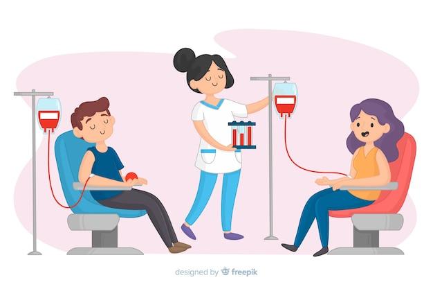 献血者のイラスト 無料ベクター
