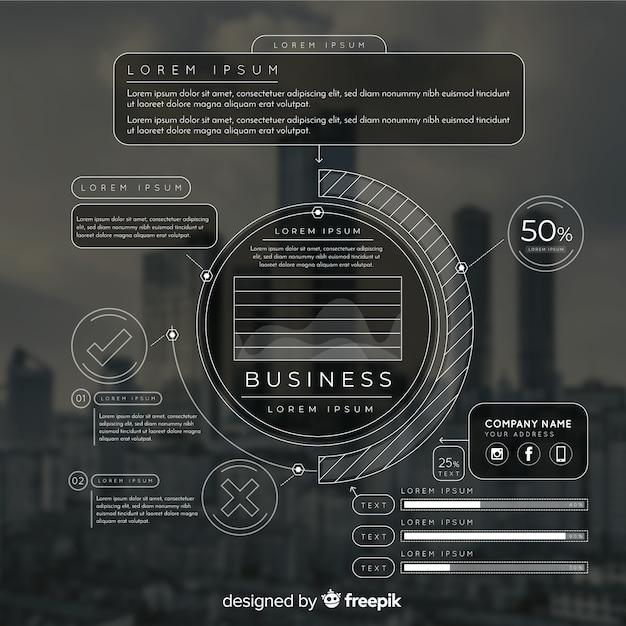 写真とビジネスのためのインフォグラフィックテンプレート 無料ベクター